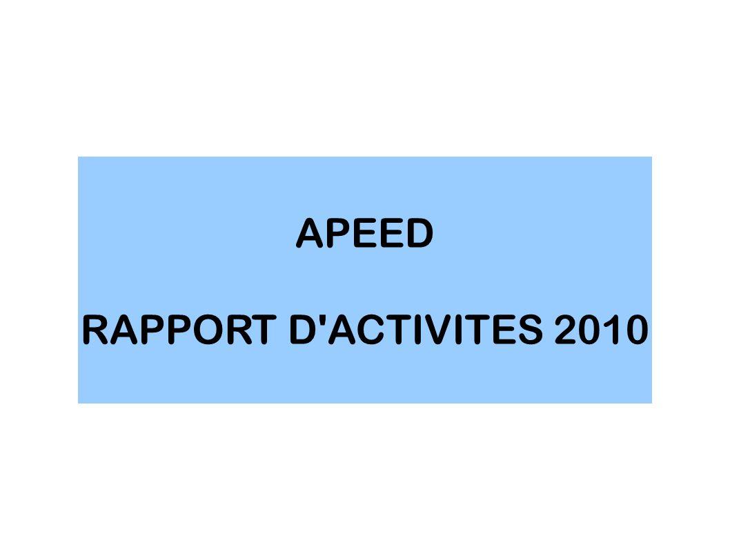APEED RAPPORT D ACTIVITES 2010
