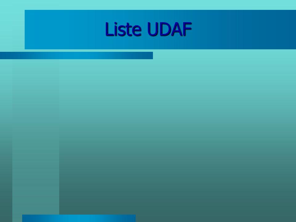 Liste UDAF