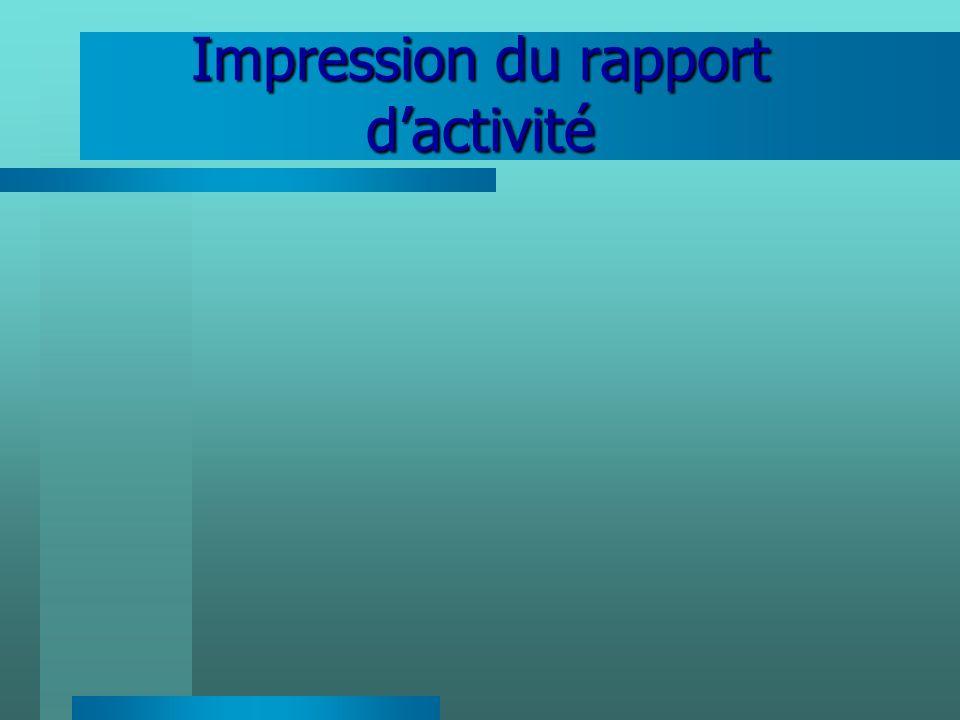 Impression du rapport d'activité