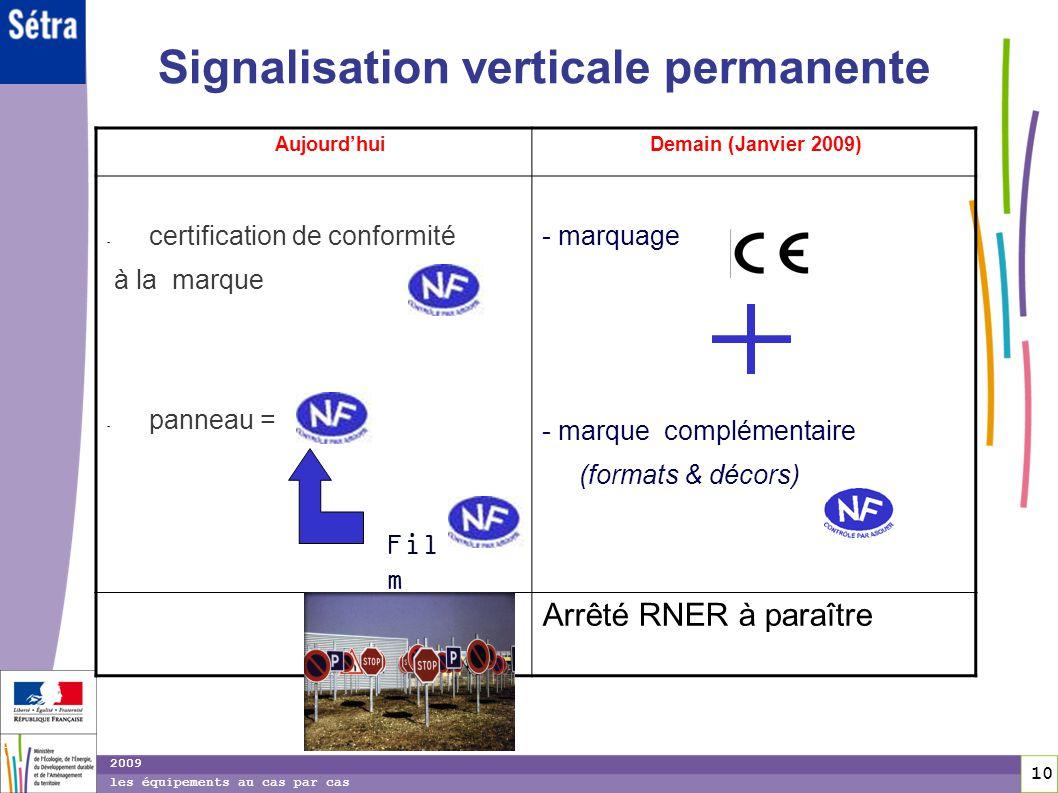Signalisation verticale permanente