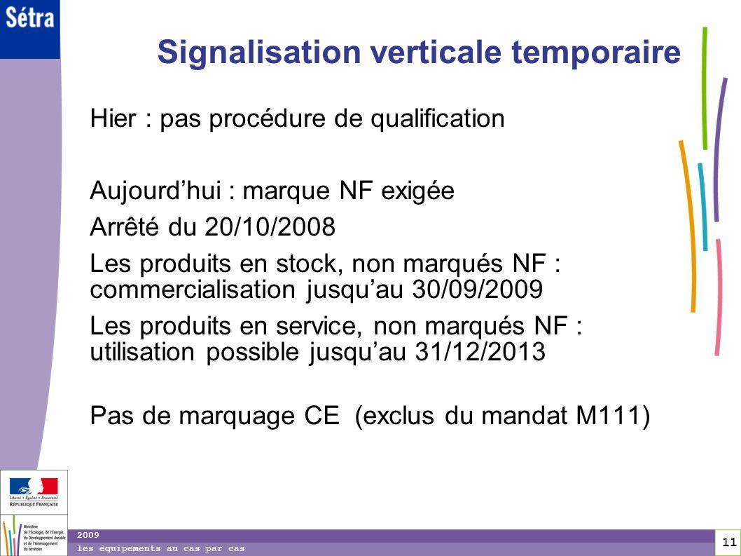 Signalisation verticale temporaire
