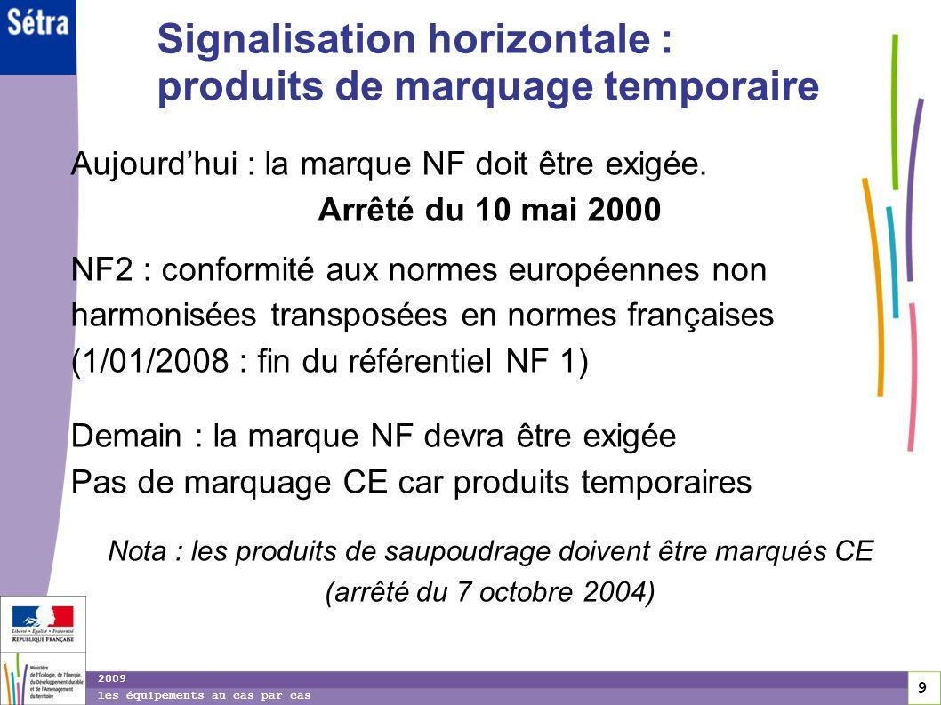 Signalisation horizontale : produits de marquage temporaire