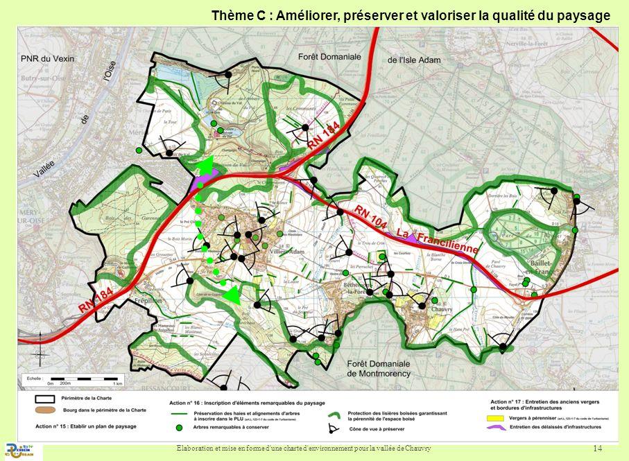 Thème C : Améliorer, préserver et valoriser la qualité du paysage