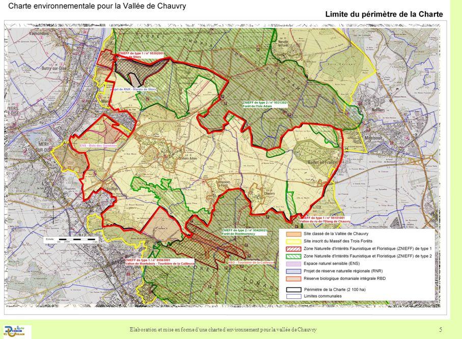 Elaboration et mise en forme d une charte d environnement pour la vallée de Chauvry