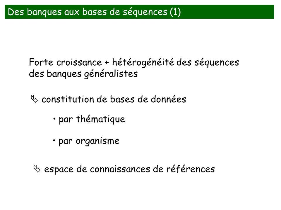 Des banques aux bases de séquences (1)