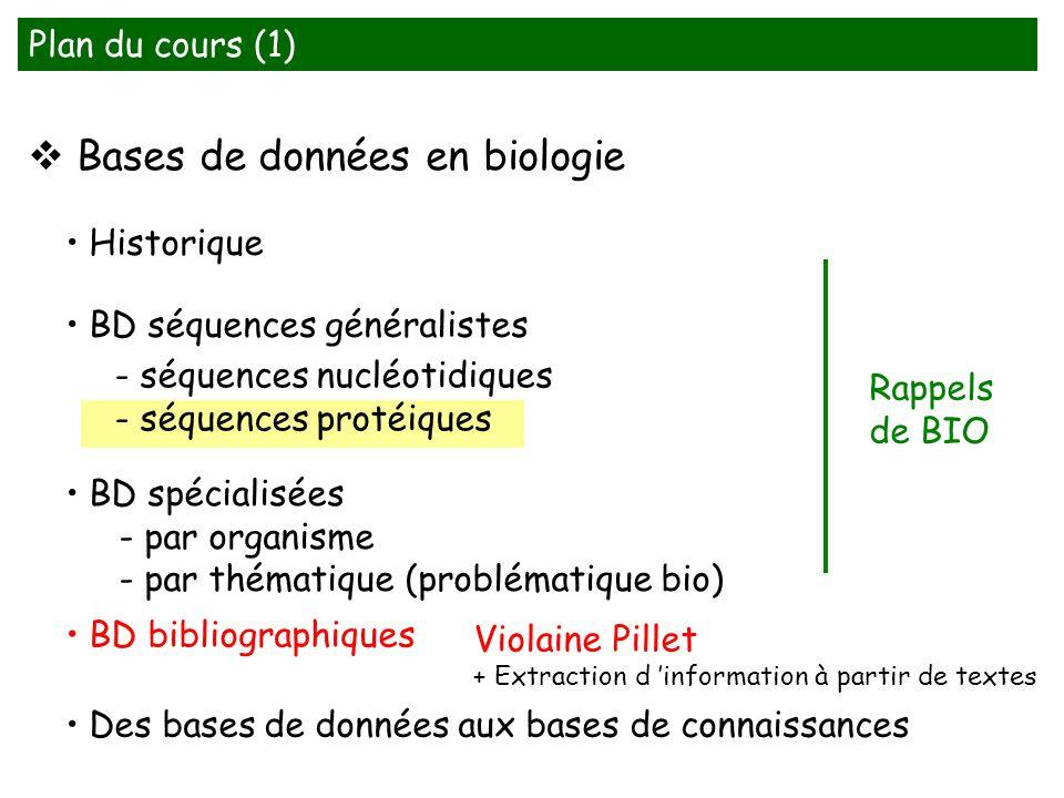 Bases de données en biologie