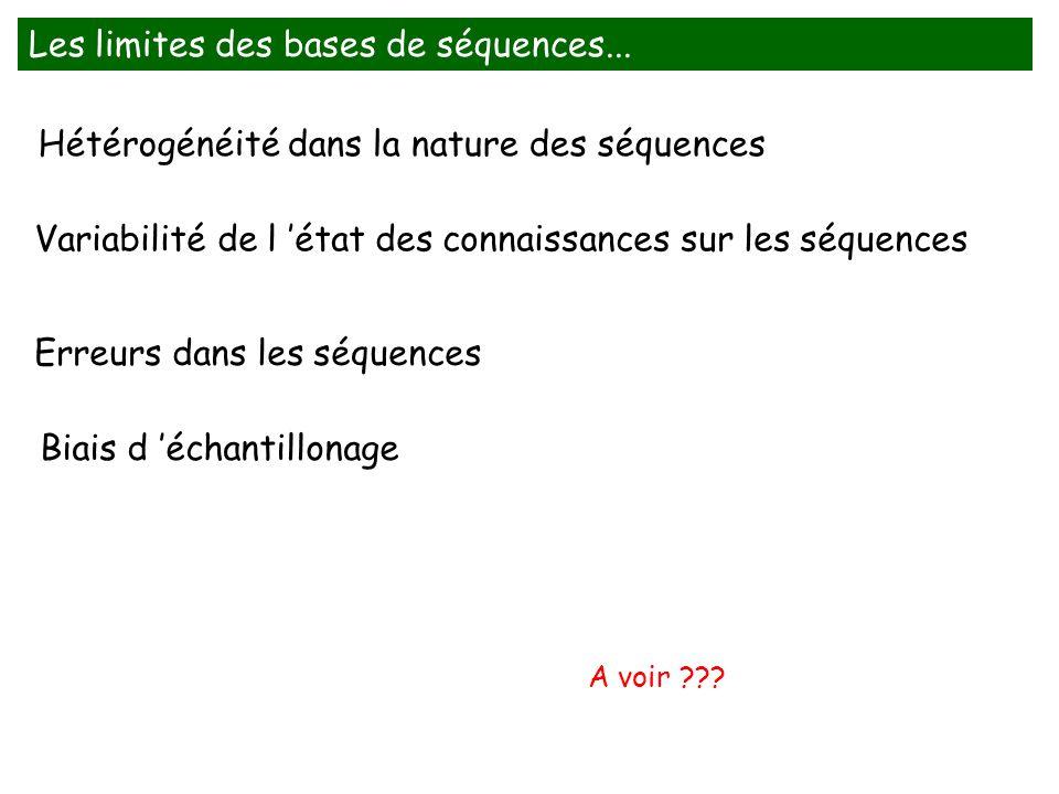 Les limites des bases de séquences...