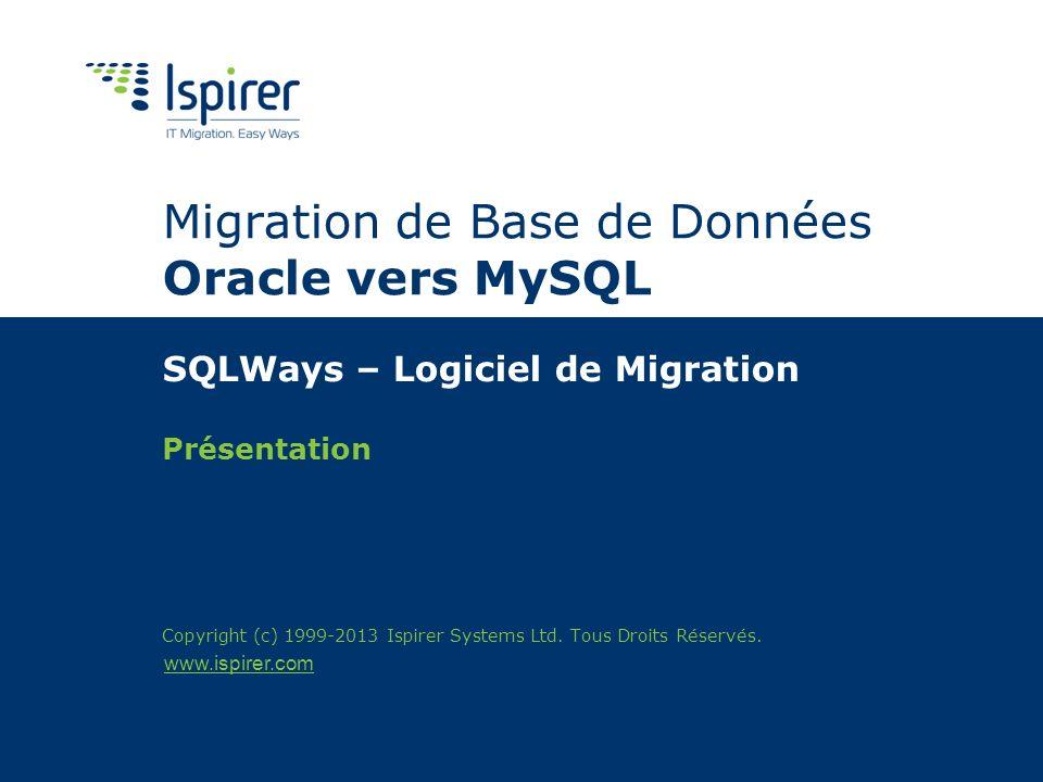 Migration de Base de Données Oracle vers MySQL