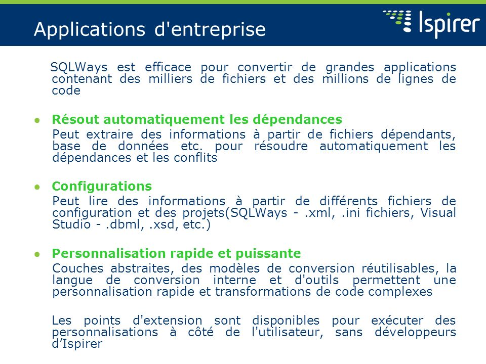 Applications d entreprise