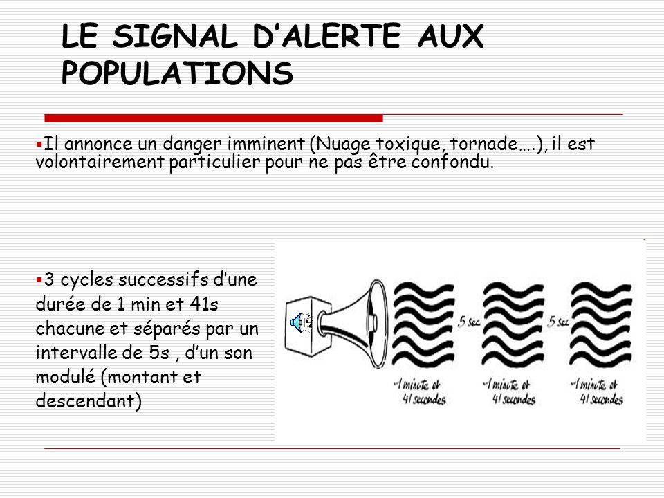 LE SIGNAL D'ALERTE AUX POPULATIONS