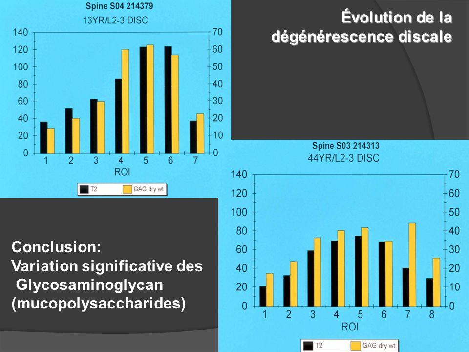 Évolution de la dégénérescence discale