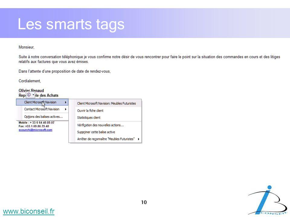 Les smarts tags