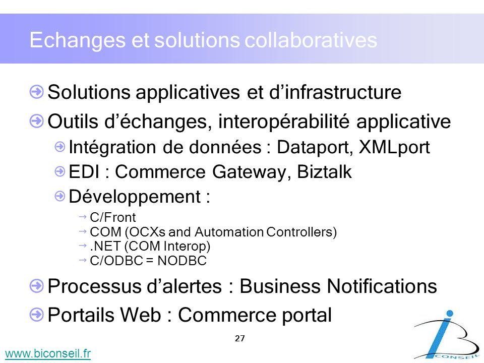 Echanges et solutions collaboratives