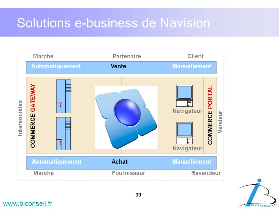 Solutions e-business de Navision