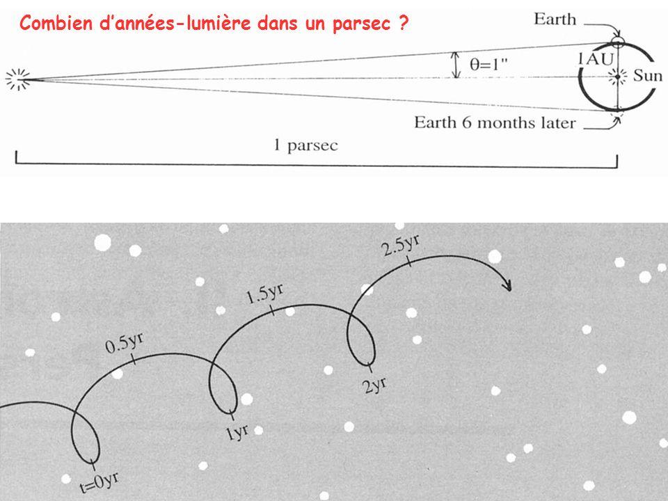 Combien d'années-lumière dans un parsec