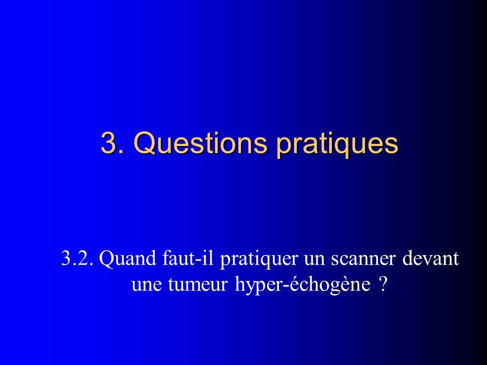 3. Questions pratiques 3.2. Quand faut-il pratiquer un scanner devant une tumeur hyper-échogène