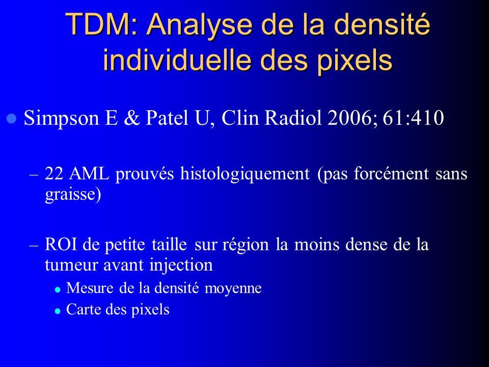 TDM: Analyse de la densité individuelle des pixels