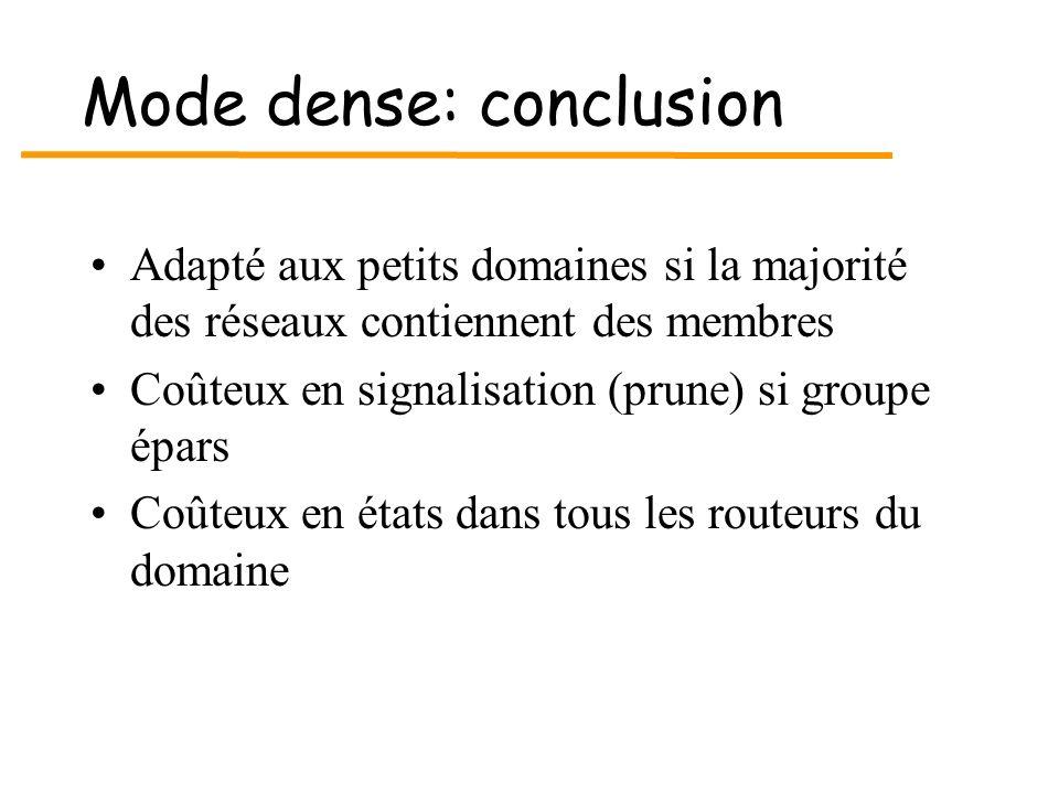 Mode dense: conclusion