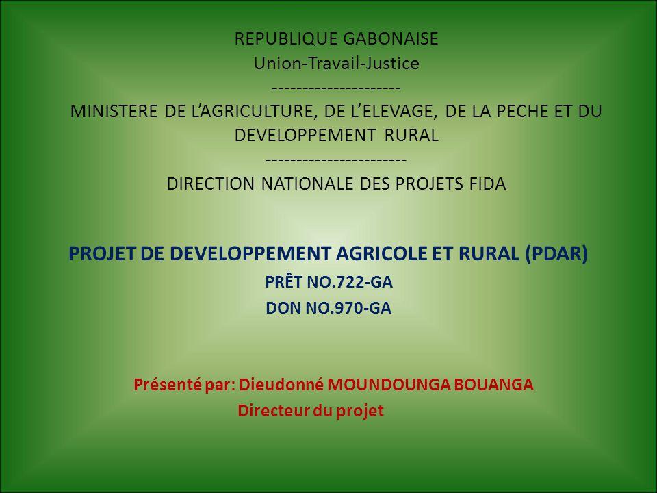 PROJET DE DEVELOPPEMENT AGRICOLE ET RURAL (PDAR)