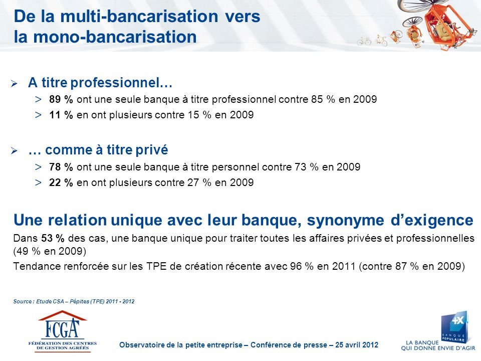 De la multi-bancarisation vers la mono-bancarisation