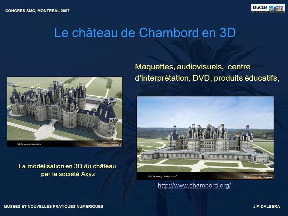 Le château de Chambord en 3D