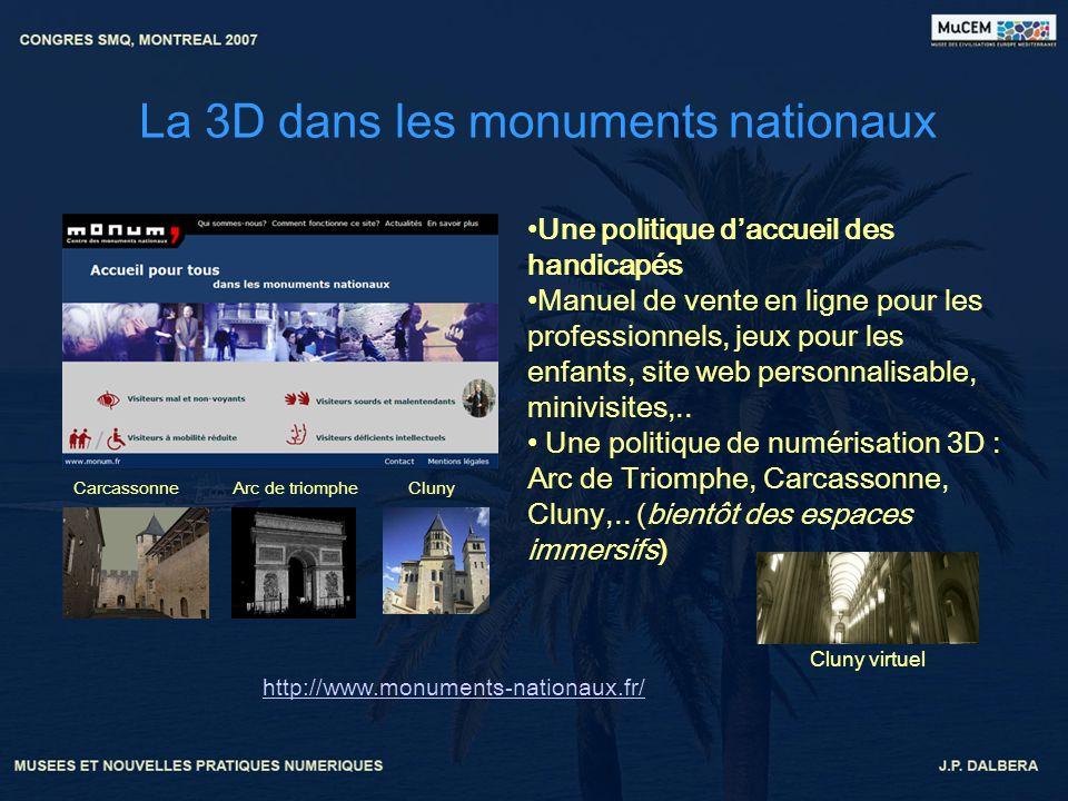 La 3D dans les monuments nationaux