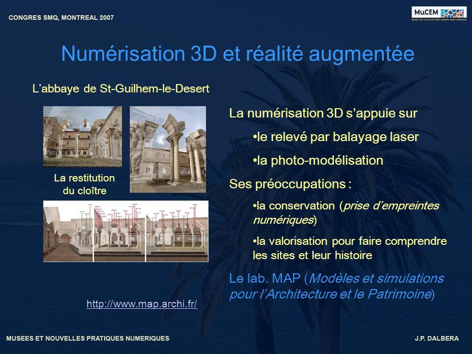 Numérisation 3D et réalité augmentée