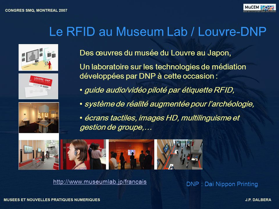 Le RFID au Museum Lab / Louvre-DNP