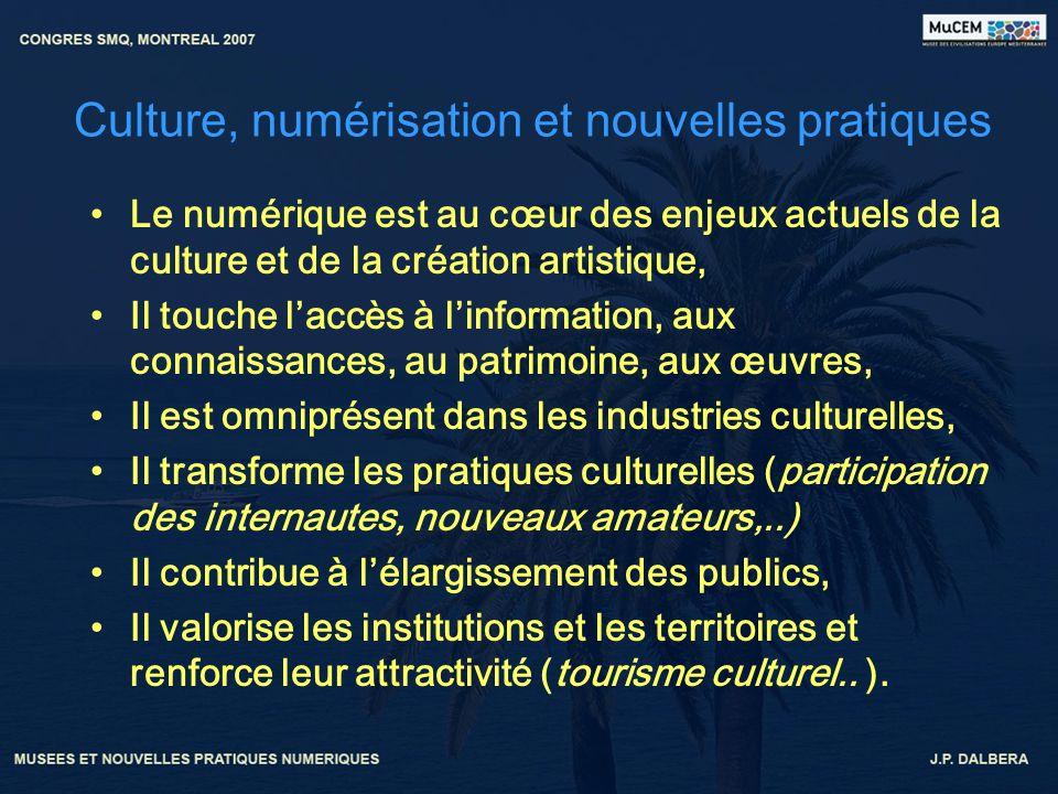 Culture, numérisation et nouvelles pratiques