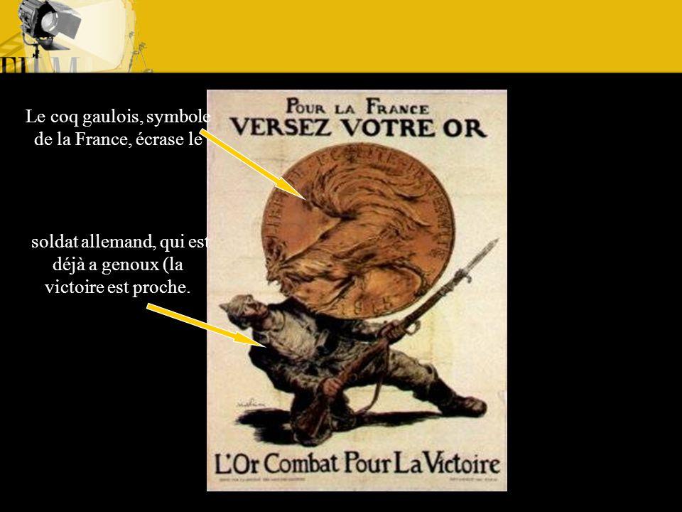 Le coq gaulois, symbole de la France, écrase le