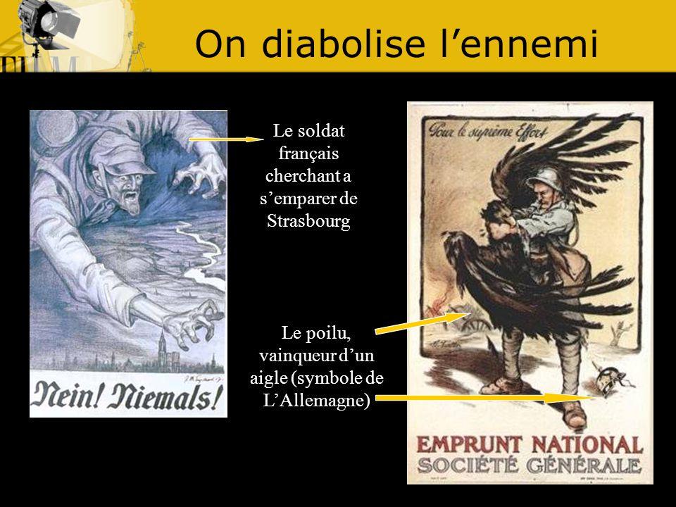 On diabolise l'ennemi Le soldat français cherchant a s'emparer de Strasbourg.