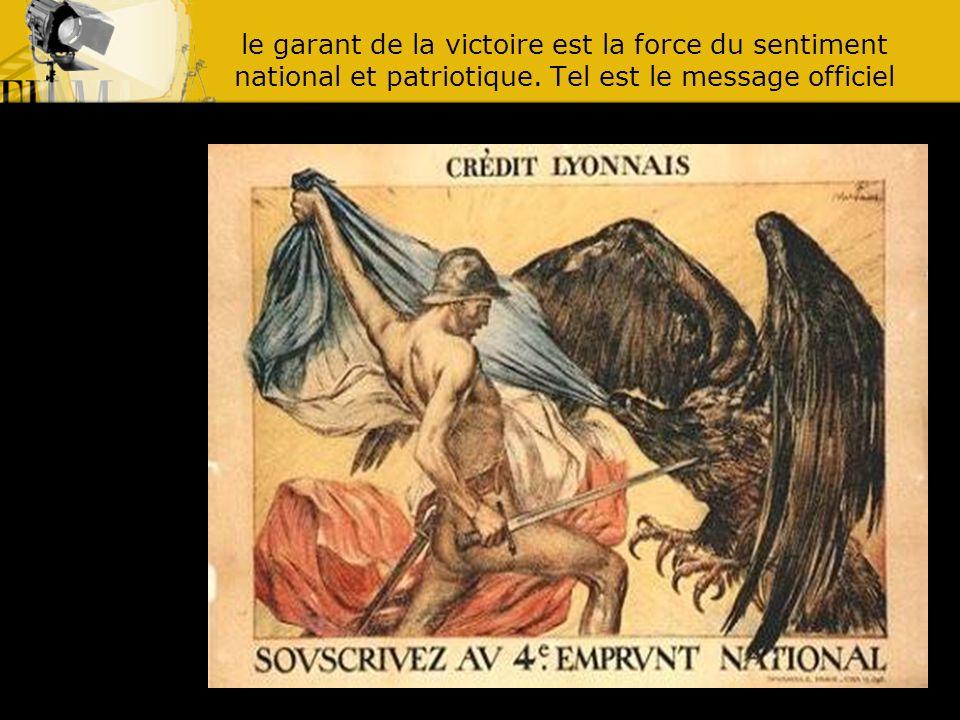 le garant de la victoire est la force du sentiment national et patriotique.