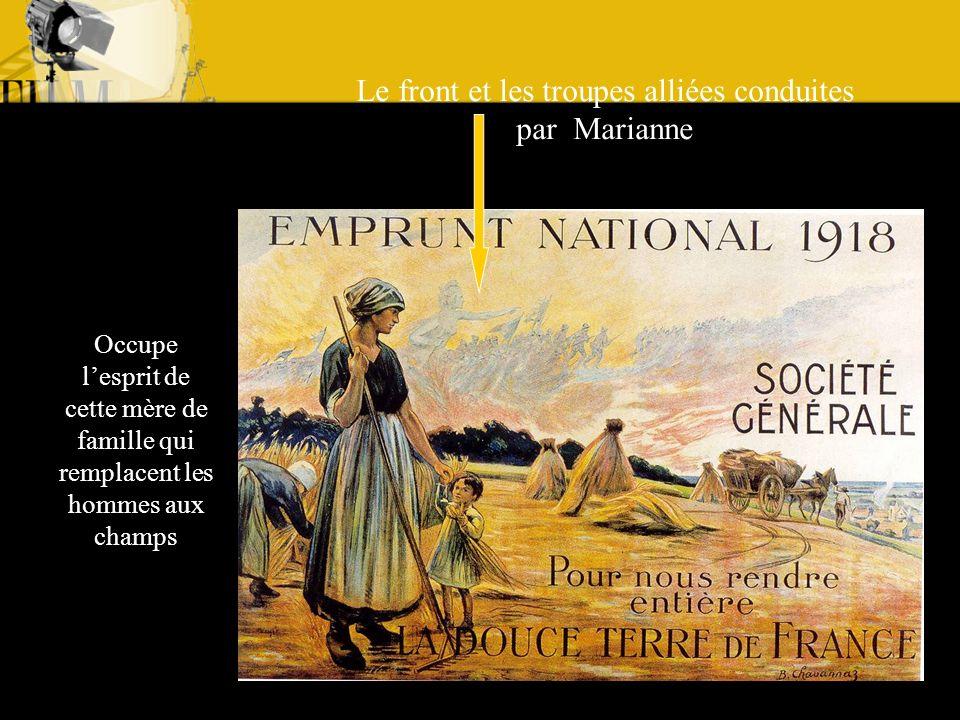 Le front et les troupes alliées conduites par Marianne