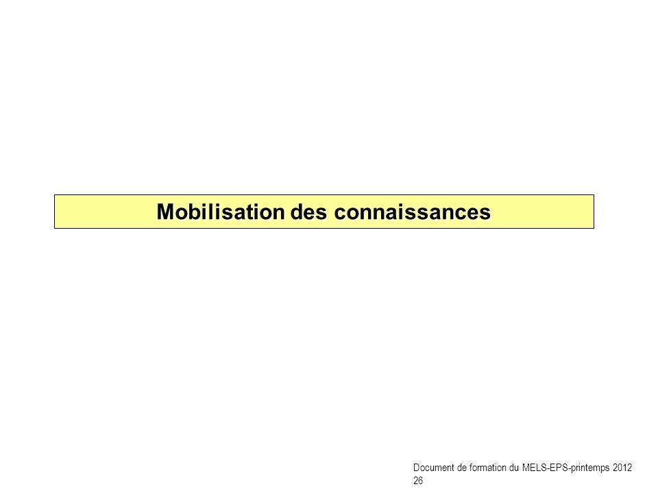 Mobilisation des connaissances