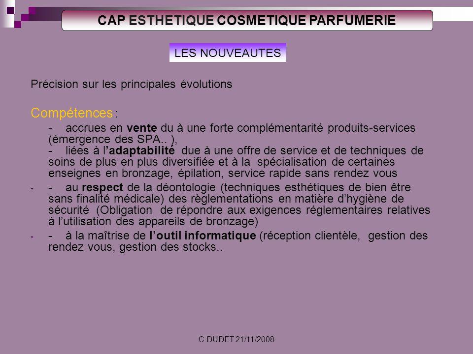 CAP ESTHETIQUE COSMETIQUE PARFUMERIE