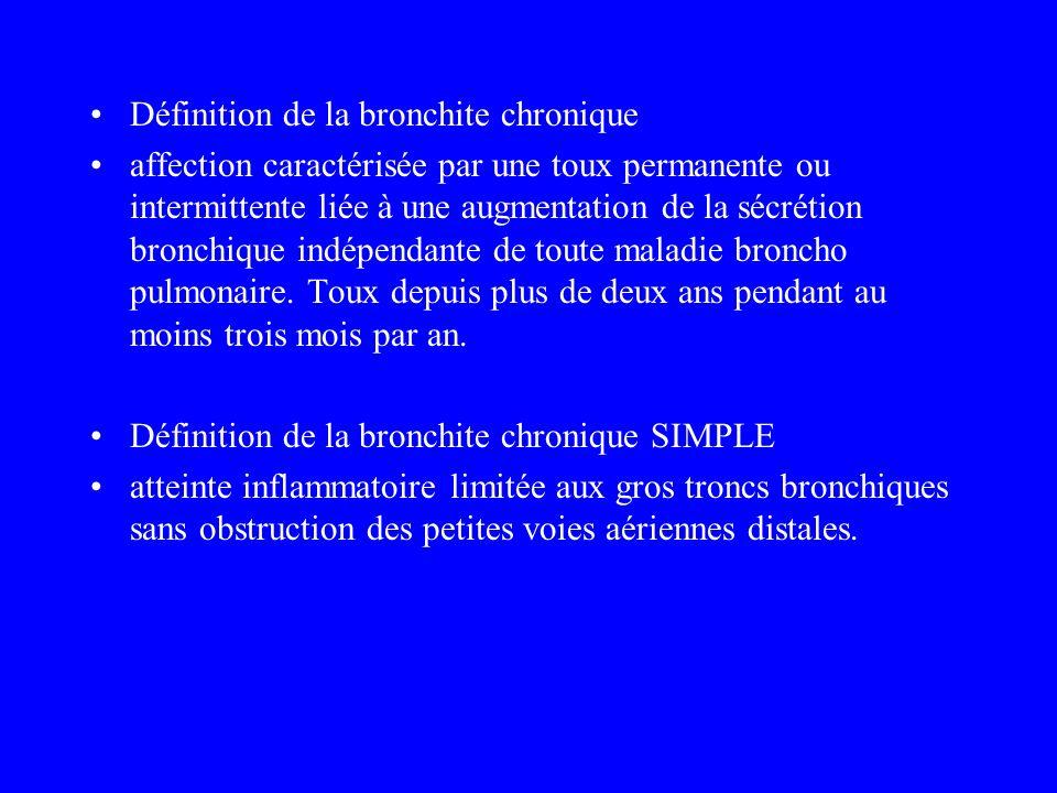 Définition de la bronchite chronique