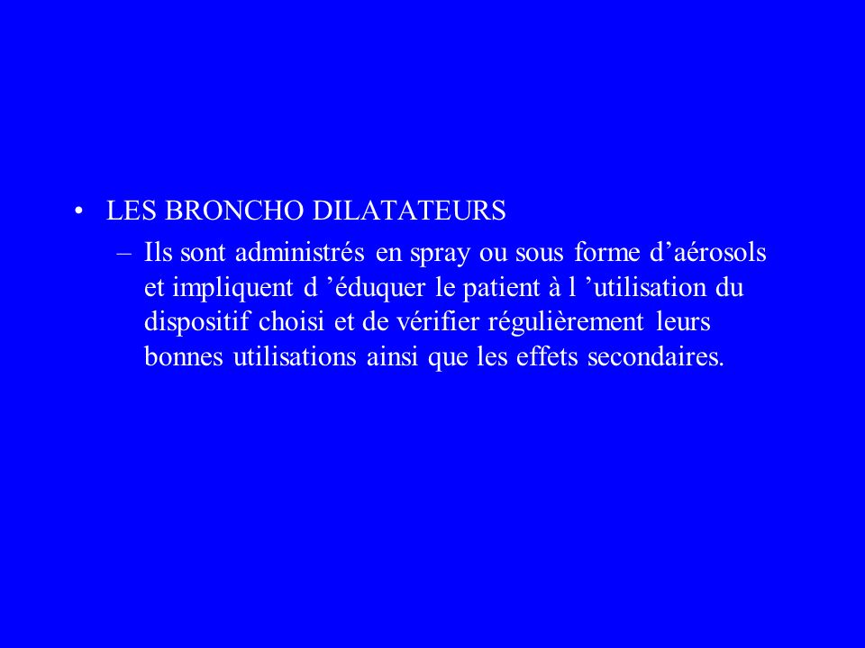 LES BRONCHO DILATATEURS