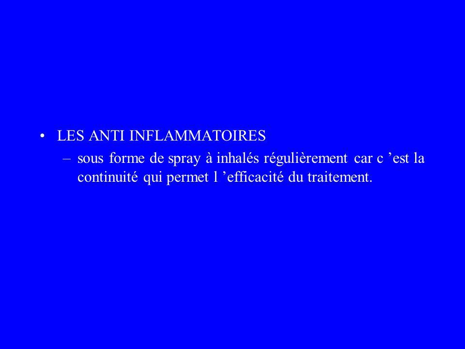LES ANTI INFLAMMATOIRES