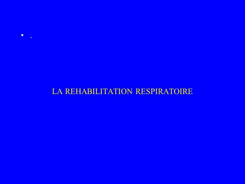 LA REHABILITATION RESPIRATOIRE