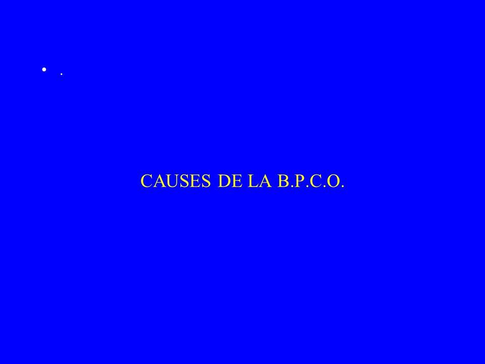 CAUSES DE LA B.P.C.O. .