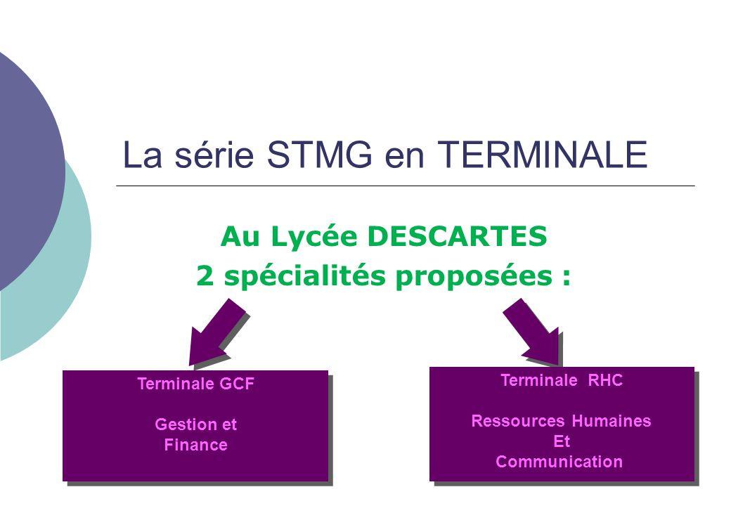 La série STMG en TERMINALE