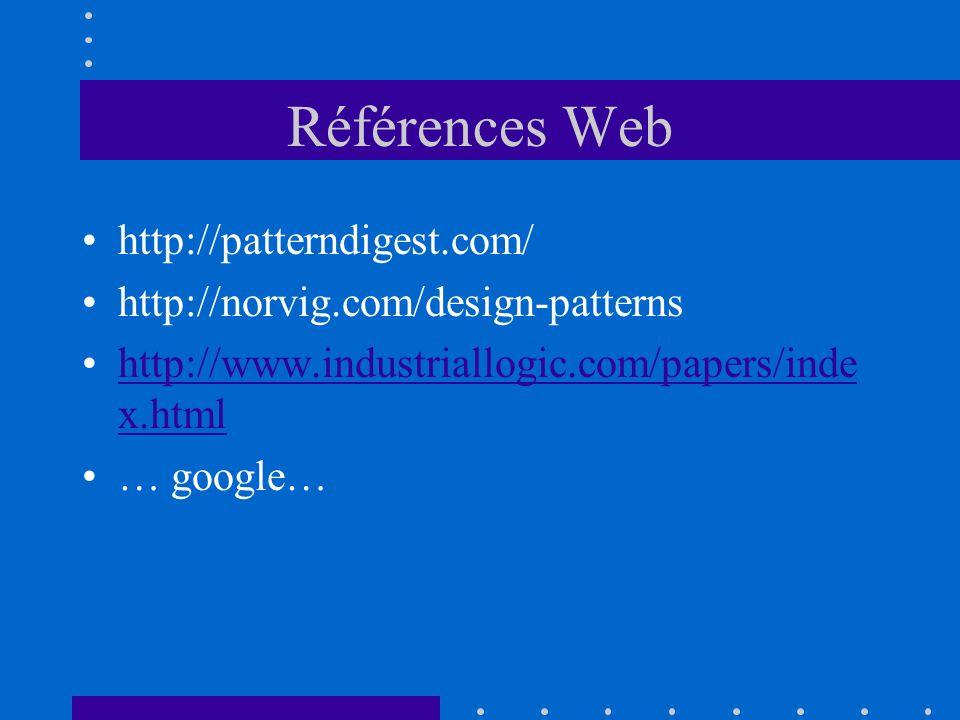 Références Web http://patterndigest.com/