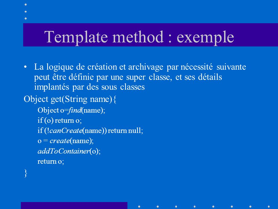 Template method : exemple