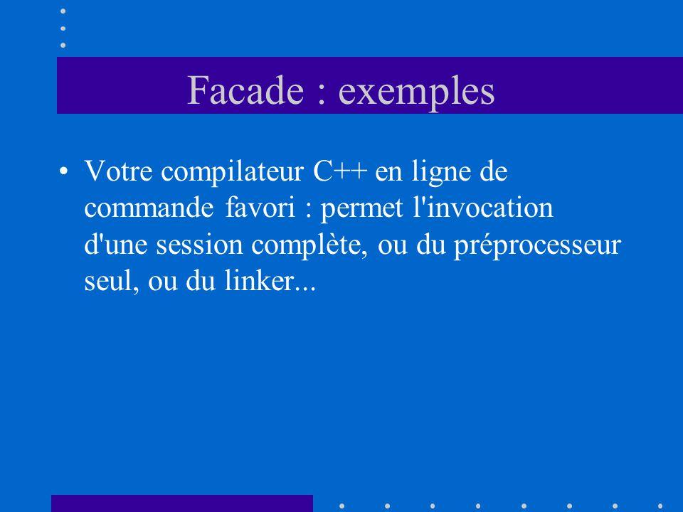 Facade : exemples