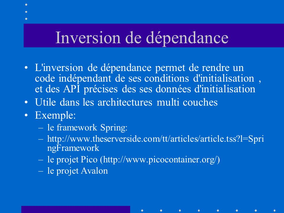Inversion de dépendance