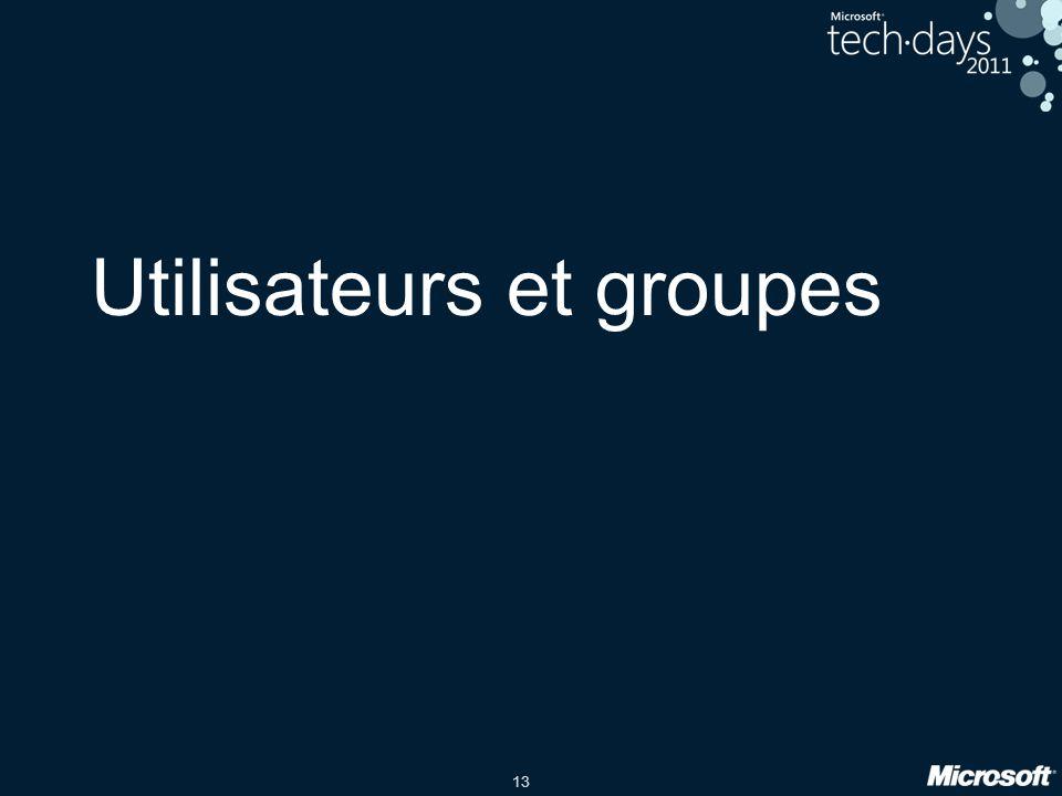 Utilisateurs et groupes