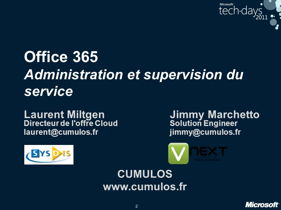 Office 365 Administration et supervision du service