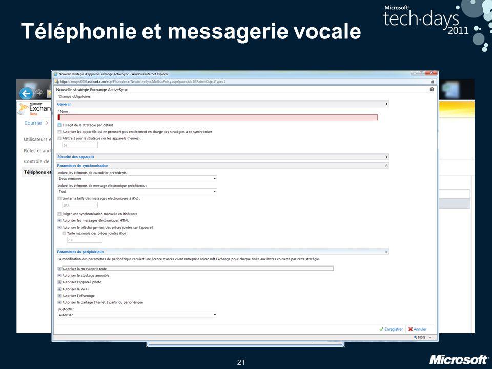Téléphonie et messagerie vocale