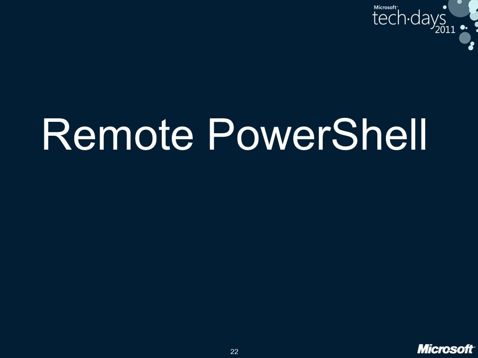 Remote PowerShell