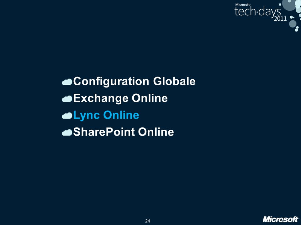 Configuration Globale